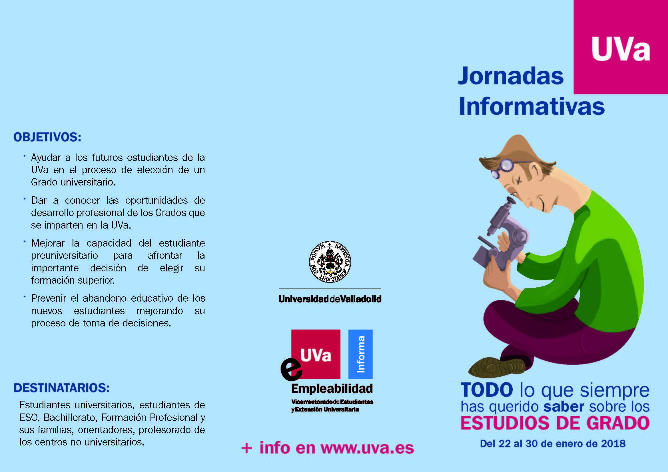 Colegio Agustinas Valladolid Jornadas Informativas Uva Sobre Los